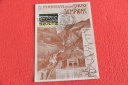 VCO Sempione La Ferrovia Dello Stato Il Traforo VII Mostra 1976 - Verbania