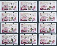 """MACAU 2019 ZODIAC YEAR OF THE PIG ATM LABELS """"KLUSSENDORF"""" COMPLETE LARGE SET OF 12 VALUES - MIXED PRINT - 1999-... Chinese Admnistrative Region"""
