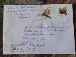 Lithuania Litauen Cover Sent From Marijampole 2020 Flag - Lituania