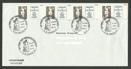 Lettre Avec 0.70 De Carnet X 4 / Cachet Commémoratif 78 - CHATOU - XIIème Fete Des Impressionnistes / 18.06.1994 - 1989-96 Bicentenial Marianne