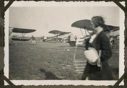 """Evere  1935""""Souvenir De La Fête De L'aviation"""" 8 Tirages Originaux D'époque, 1935 FG0916 - Aviation"""