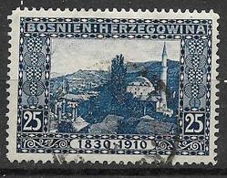 BOSNIA EZERGOVINA 1910 80° GENETLIACO DELL'IMPERATORE D'AUSTRIA UNIF 52 USATO VF - Bosnie-Herzegovine
