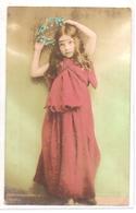 K 2205 OLD  FANTASY POSTCARD  ,  9 X 14 Cm , FINE ART  , CHILDREN - Año Nuevo