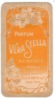 Carte Parfum VERA STELLA  (N°2 Et Dernier Exemplaire)   Kerkoff à Paris. - Anciennes (jusque 1960)