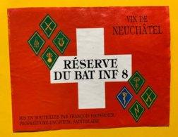 13833 - Réserve Du Bataillon Infanterie 8 Neuchâtel François Haussener Saint-Blaise - Militaria