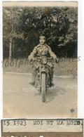 Homme Sur Une Moto, 1923. Tirage Original  D'époque. FG09650 - Cars