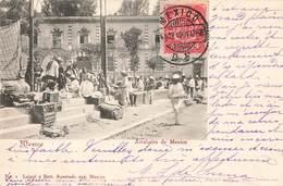 Mexique Mexico Arrabales De Mexico Cpa Carte Animée + Timbre Cachet 1904 - Mexiko