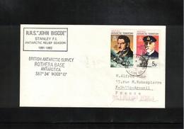 British Antarctic Territory 1981 Rothera Base Adelaide Island Interesting Letter - Brieven En Documenten