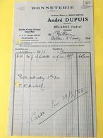 Ancienne Facture De BELABRE  ( 36 )  André DUPUIS - BONNETERIE   (  CPA36I4652 ) - Frankreich