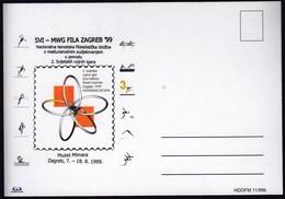 Croatia Zagreb 1999 / 2nd MWG / Philatelic Ex. / Basketball Handball Waterpolo Rowing Swimming Volleyball Triathlon - Briefmarken