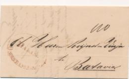 Nederlands Indië - 1859 - Complete EO Vouwbrief Van MALANG ONGEFRANKEERD Naar Batavia - Niederländisch-Indien