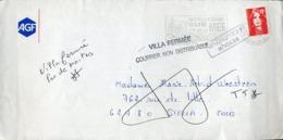 PAS DE CALAIS De Boulogne Pour STELLA CUCQ Griffe VILLA FERMEE COURRIER NON DISTRIBUABLE + Retour à L'envoyeur - Marcophilie (Lettres)