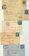5 Lettres Classiques - De Bons Indices - 1849-1876: Periodo Classico