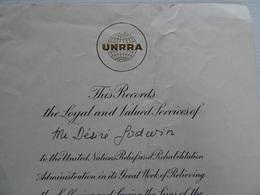 Document American UNRRA 31 Décembre 1946  A Voir - Documents Historiques