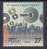 Serbia 2020 50th Anniversary Of Radio Studio B Gramophone Records Stamp MNH - Serbia