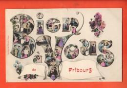 ZAD-04 RARE Bien à Vous De Fribourg, Litho Fantaisie. Sceau 1907 - FR Fribourg