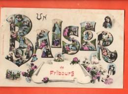 ZAD-06 RARE Un Baiser De Fribourg, Litho Fantaisie. Sceau 1907, Ecrite En Sténo Aimé-Paris - FR Fribourg