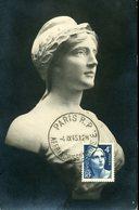 Marianne De Gandon 4/9/1945 Paris R.P. AFFRANCHISSEMENT - Cartes-Maximum
