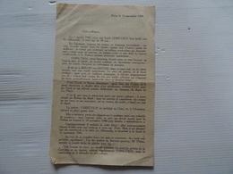 Document HOMMAGE Emile CHRETIEN Fusillé Par Les Allemands 11 NOVEMBRE 1944  A Voir - Vieux Papiers