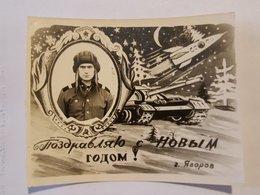 Photo Vintage. L'original. Soldat De L'armée Soviétique Tankis - War, Military