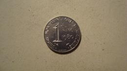 MONNAIE AFRIQUE DE L'OUEST 1 FRANC 1980 - Monnaies