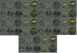 Haiti - 5 Pcs X Set 5 Coins 5 20 50 1 5 Gourdes 1995 - 2011 UNC Lemberg-Zp - Haití
