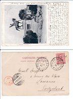 Italia 1902 Annullo Ottagonale Di Collettoria ? Golfo Degli Aranci Cart Palermo - Marcophilie
