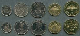 Haiti - Set 5 Coins 5 20 50 1 5 Gourdes 1995 - 2011 UNC Lemberg-Zp - Haiti