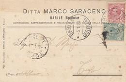 Barile. 1921. Annullo Guller  BARILE (POTENZA ),  Su Cartolina Postale PUBBLICITARIA - 1900-44 Vittorio Emanuele III