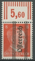 Österreich 1945 Hitler Mit Aufdruck 679 X Oberrand Postfrisch, Geriffelter Gummi - 1945-60 Ungebraucht