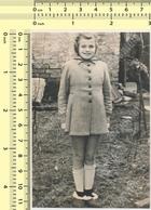 REAL PHOTO Girl Kid Smile Portrait, Enfant Fille Souriante ORIGINAL VINTAGE OLD SNAPSHOT PHOTOGRAPH - Persone Anonimi