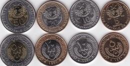 Mauritania - Set 4 Coins 5 10 20 50 Ouguiya (20+50 Bimetall) 2009 - 2010 AUNC Lemberg-Zp - Mauritania
