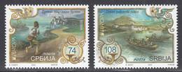 Serbia 2020 Europa CEPT Ancient Postal Routes Pedestrian Messenger Boat Fortress, Set MNH - Otros