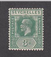 Seychelles 1921 3c  SG99   MH - Seychelles (...-1976)