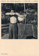 Jeux Olympiques De Tokyo 1964 - Tir à L ' Arc Avec L 'acteur Francis Lederer - Tir à L'Arc
