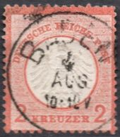 Germany 1872 2 Kr Kleiner Brustschild Cancel Baden 2005.0513 Small Coat Of Arms, Minor Thin Spot On Top - Allemagne