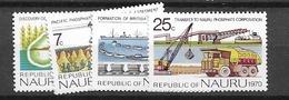 1975 MNH Nauru Mi 117-20 Postfris** - Nauru