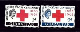 Gibraltar 162-63 MH 1963 Red Cross - Gibraltar