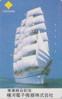 Télécarte Japon / 110-016 - BATEAU VOILIER Caravelle - ** YOKOGAWA ** - SAILING SHIP Japan Phonecard - 395 - Boats
