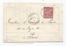 -  S/TP Sage N°- SAONE Et LOIRE - MACON - Càd T. 17 S/TP N°71 - 1878 - 1876-1878 Sage (Type I)