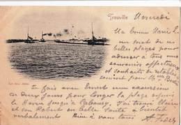 CPA / Trouville (14)  Les Deux Jetées Rare Carte Précurseur Voyagée 1898 ...   Ed R & J D 10688 - Trouville