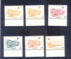 F882 - TR433 2X TR 434 TR 436 TR 438 TR 442 BELGIE Spoorwegen  POSTFRIS Met Plaatnummers - Chemins De Fer