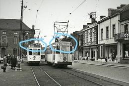 PHOTO TRAM 31 Et 34 Sur La Place De Carnieres Morlanwelz REPRO - Tramways