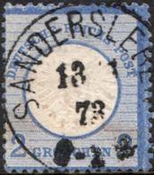 Germany 1872 2 Gr Grosser Brustschild Cancel Sandersleben  2005.0523 Large Coat Of Arms - Germany