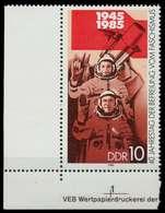DDR 1985 Nr 2941 Postfrisch ECKE-ULI X09B1C2 - Ungebraucht