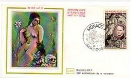 FDC MONACO  1972 YT N° 867 Baudelaire Chat - FDC