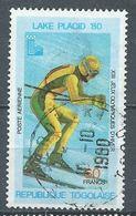 Togo Poste Aérienne YT N°412 Jeux Olympiques D'hiver Lake Placid 1980 Ski Alpin Oblitéré ° - Togo (1960-...)