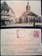 LANGENSALZA - NEUMARKT UND RATHAUS (NUOVO MERCATO E MUNICIPIO) - VIAGGIATA 1924 - Alemania