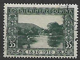 BOSNIA EZERGOVINA 1910 80° GENETLIACO DELL'IMPERATORE D'AUSTRIA UNIF 54  USATO VF - Bosnie-Herzegovine