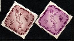 B031B - KOLUMBIEN -1957 - MNH- MI#: 824,825- SOUTH AMERICAN CHAMPIONSHIP OF FENCING - Colombia